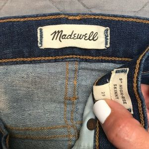 "Madewell Jeans - Madewell 9"" High Rise Destructed Skinny Jeans 29"